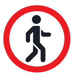 No sign for pedestrians flat isolated vector
