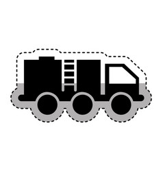 oil truck isolated icon vector image