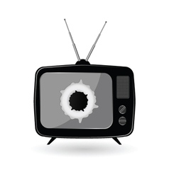 old black tv vector image