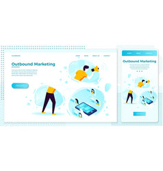 online outbound marketing man with speaker vector image