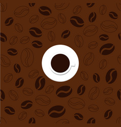 pattern with cup and coffee vector image