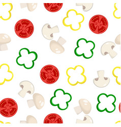 pattern with vegetables isolated on white vector image