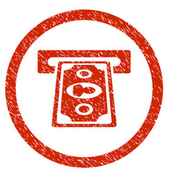 Payment terminal rounded grainy icon vector