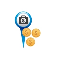 pin pointer with money icon vector image