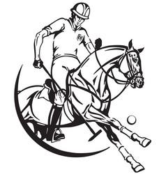 polo emblem vector image