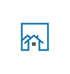 real estate house logo graphic design template vector image