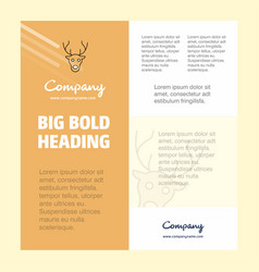 reindeer business company poster template with vector image