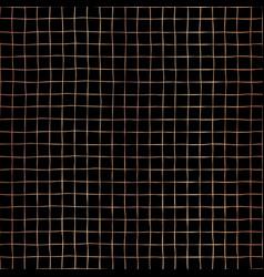 rose gold foil grid black seamless pattern vector image