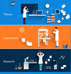 Science Horizontal Banners vector image