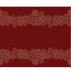 Seamless beige border on red background vector
