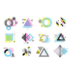 set modern abstract elements vector image