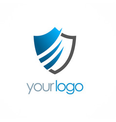 Shield secure logo vector