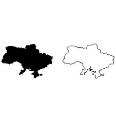 Simple only sharp corners map ukraine drawing vector