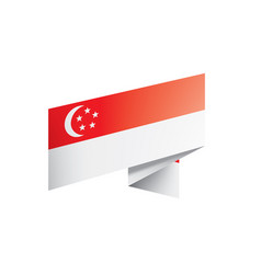 singapore flag on a white vector image