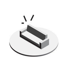 Sofa for the living room isometric vector