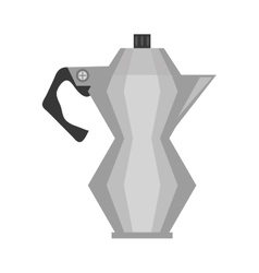 steel kettle coffee tea cookware vector image