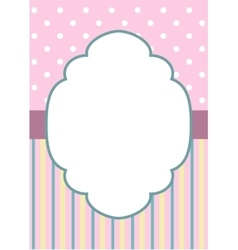 Stripes and polka dot on pink vector