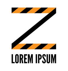 Stylized striped z letter vector