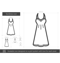 sundress line icon vector image