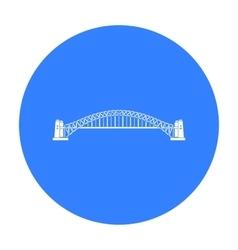 Sydney Harbour Bridge icon in black style isolated vector
