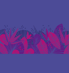 tropical leaves color vector image