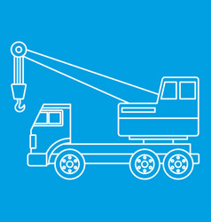 Truck crane icon outline vector