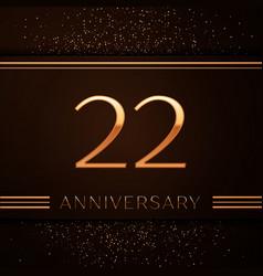 Twenty two years anniversary celebration logotype vector