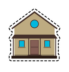 Two story family house icon image vector