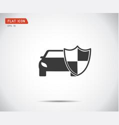 vehicle icon shield auto car guard insurance logo vector image
