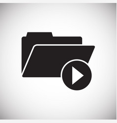 Video blogger files icon on white background for vector