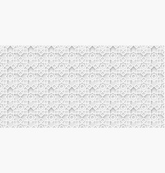White islamic background light grey arabic pattern vector