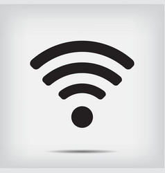 wi fi icon on a gray background vector image