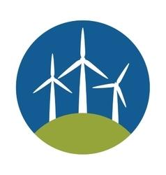 Windmill eco energy icon vector