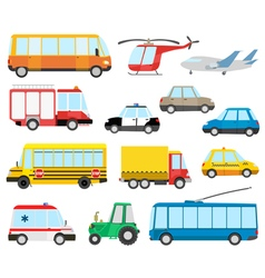 cartoon transport vector image