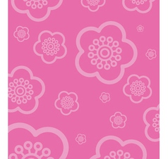 cherry blossom wallpaper vector image vector image