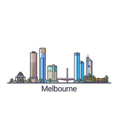 flat line melbourne banner vector image vector image