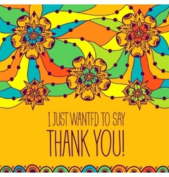 Greeting card i just wanted to say thank you vector