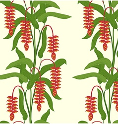 Heliconia seamless pattern vector