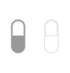 Pill grey set icon vector
