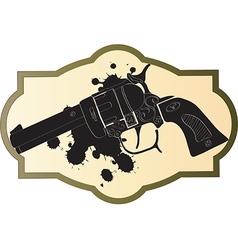 Classic Wild West hand guns vector image