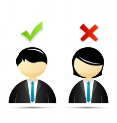 right and wrong signs vector image vector image