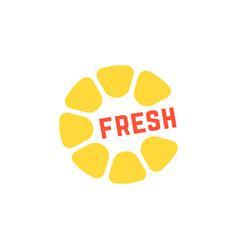 simple yellow fresh juice logo vector image