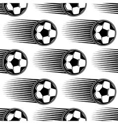 Speeding soccer ball seamless pattern vector image vector image