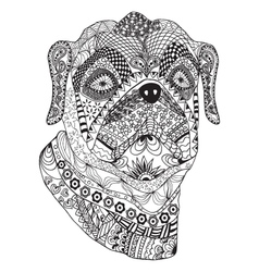 Bulldog portrait Hand drawn stylized dog vector image vector image