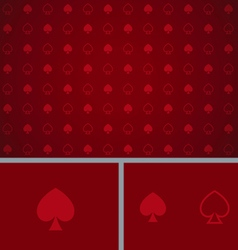 Clean Abstract Poker Background Red Spades vector image vector image