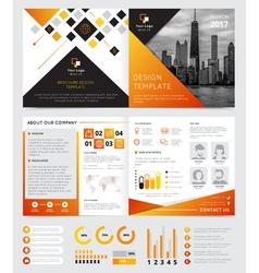 Company Brochure Design vector image vector image