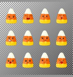 emoji of corn candy vector image vector image