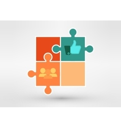 modern presentation diagramm with business people vector image