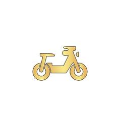 motorcycle computer symbol vector image vector image
