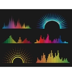 Music digital waveforms vector image